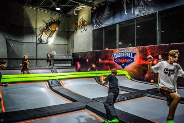 Get fit with your friends, AND have a laugh - in the Trampoline Dodgeball League! Individuals and teams welcome. Click here for INFO. Spectators free.