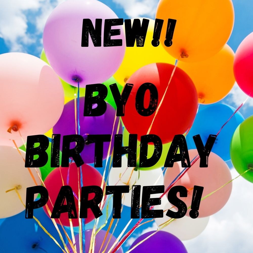Introducing BYO Birthday Parties! Options for general jump sessions, pre-schoolers Little Gravity session, Fridays Freerange Jump Jam, and Gravity Rock. Includes Party Room reservation, then just BYO food! Hosted and unhosted options available. But get in quick - the calendars filling up fast for winter parties!